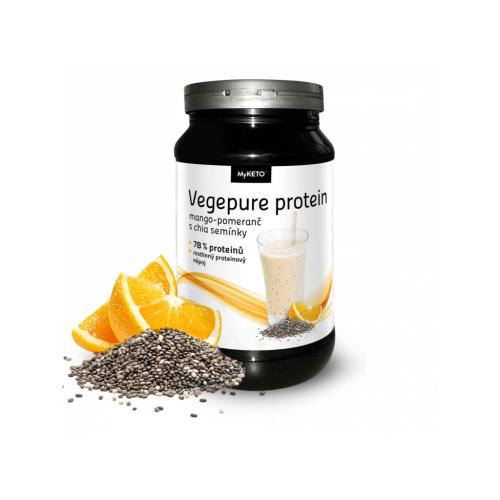 MyKETO MAXI Vegepure Protein Gym&Body mango-pomaranč a chia 600g