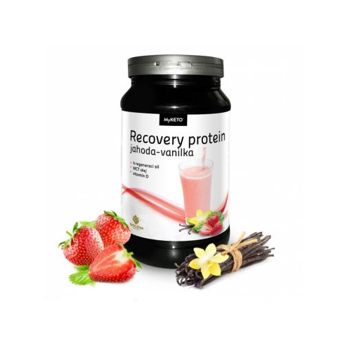 MyKETO MAXI Recovery Protein Gym&Body jahoda-vanilka 600g