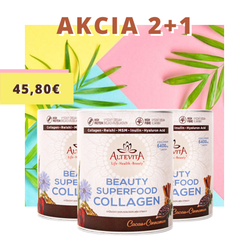 2 + 1 zadarmo Altevita Superfood beauty collagen 320g
